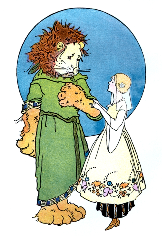 Illustration: Beauty and the Beast from the book Once Upon a Time