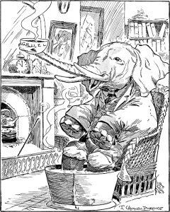 """Illustration: """"The Best Cure"""" from Animal Antics"""