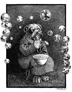 Illustration Mr. Bubbles from Animal Antics