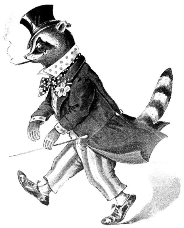 Illustration: Charlie the Coon from Peter Piper's Peep Show.  Illustrated by Lewis Baumer and Harry B. Neilson.