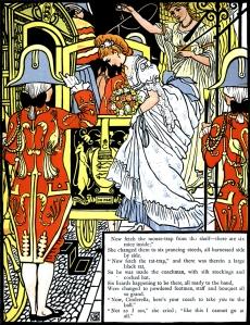 Illustration: Cinderella Walter Crane - Coach to take you to the ball.