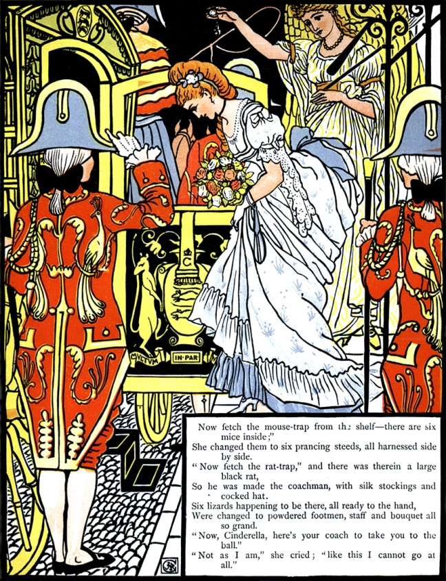 Illustration: Cinderella Walter Crane - Coach to take you to the ball.