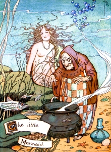 Illustration: Little Mermaid from Hans Andersen's Fairy Tales.