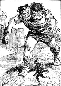 Illustration: Jack the Giant-Killer and Thunderdell the two-headed giant!