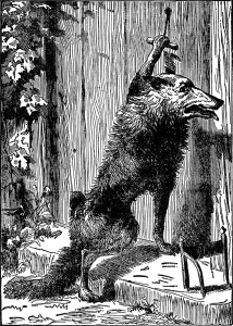 Illustration: Wolf from Little Red Riding-Hood in Mother Fairy-Tales.