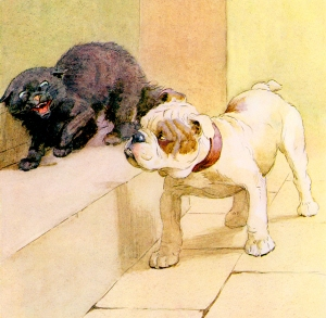 Illustration from Our Friend The Dog With Cat