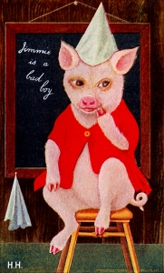 Illustration: The Tale of Jimmie Piggy By Marjorie Manners The Platt & Nourse Co.: New York. 1918.