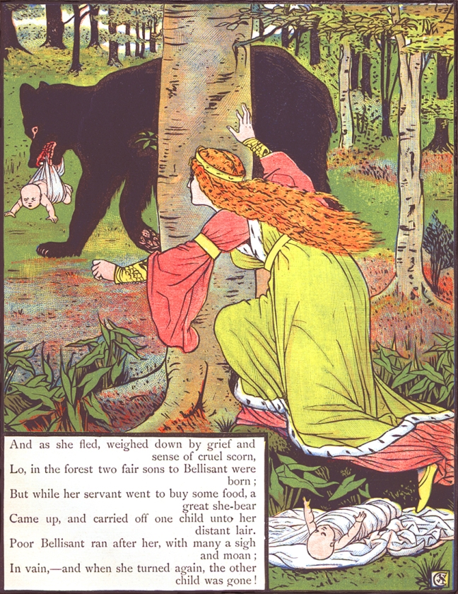 Illustration from Valentine and Orson from Three Bears
