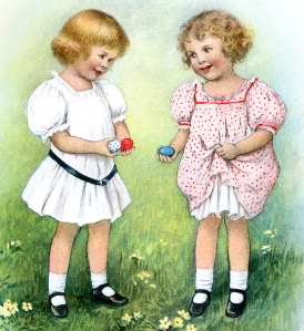 Illustration: Easter Egg Hunt. Prattles For Our Boys and Girls Hurst & Co.: New York. 1912.