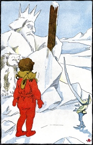 Illustration: Ice King from In The Miz. Written by Grace E. Ward. Illustrations by Clara E. Atwood. Little, Brown, & Co.: Boston. 1904.