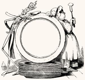 Illustration: Jack Sprat. Mother Goose's Nursery Rhymes. McLoughlin Brothers: New York. Ca 1900.