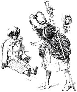 Illustration: Sambo & Bo-Peep from Little Bo-Peep And Other Good Stories Henry Altemus Company: Philadelphia. 1905.