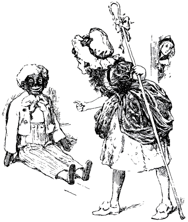 Illustration: Sambo & Bo-Peep from Little Bo-Peep And Other Good Stories Henry Altemus Company: Philadelphia. 1905.
