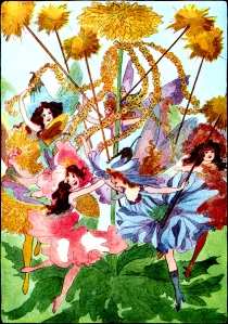 Illustration: May Pole. A YEAR WITH THE FAIRIES. Written by Anna M. Scott. Illustrations by M. T. Ross. Published by P. F. Volland & Co.: Chicago. 1914.