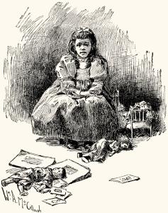 Illustration: ROSAMOND THE IDLE by Hannah R. Hudson. Prattles For Our Boys and Girls Hurst & Co.: New York. 1912.
