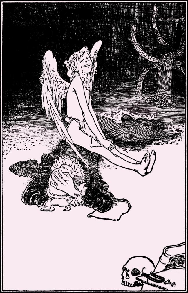 Illustration:  The Saucy Boy.  Fairy Tales by Hans Christian Andersen.  Henry Altemus Company: Philadelphia. Ca 1920.