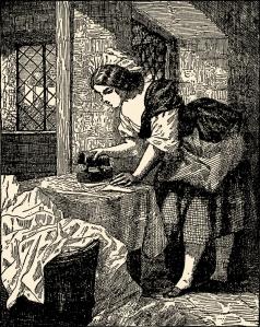 Illustration: The Shirt-Collar. Fairy Tales by Hans Christian Andersen. Henry Altemus Company: Philadelphia. Ca 1920.