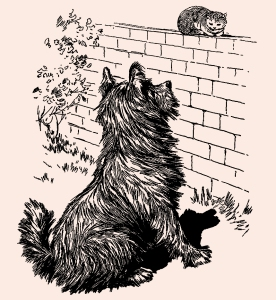 Illustration: Teasing Cats. Our Dear Dogs. Father Tuck's Happy Hour Series. Raphael Tuck & Sons, Ltd.: London-Paris-Berlin-New York-Montreal. Printed in the Fine Art Works in Saxony. Publishers to Their Majesties The King & Queen, & Her Majesty Queen Alexandra. Ca 1910.