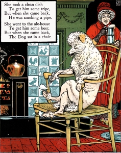 MOTHER HUBBARD. Walter Crane's Picture Books Re-Issue. John Lane. The Bodley Head: London & New York. 1897.