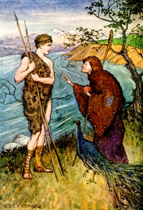 """From the story """"The Golden Fleece."""" Tanglewood Tales. Written by Nathaniel Hawthorne. Illustrations by Milo Winter. Rand McNally & Company: Chicago & New York. 1913."""