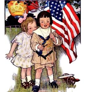 Illustration: July Fourth. Prattles For Our Boys and Girls. Hurst & Co.: New York. 1912.