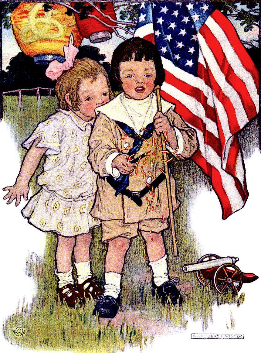 Illustration:  July Fourth.  Prattles For Our Boys and Girls.  Hurst & Co.: New York. 1912.