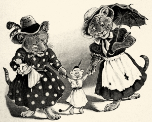 Illustration: Bertha & Flo. PETER PIPER'S PEEP SHOW or All the Fun of the Fair. By: S. H. Hamer. With Illustrations By: Lewis Baumer and Harry B. Neilson. Cassell And Company, Ltd.: London, Paris, New York & Melbourne. 1906.