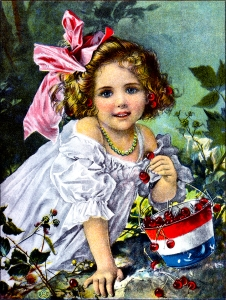 Illustration: Summer Cherries. Prattles For Our Boys and Girls. Hurst & Co.: New York. 1912.