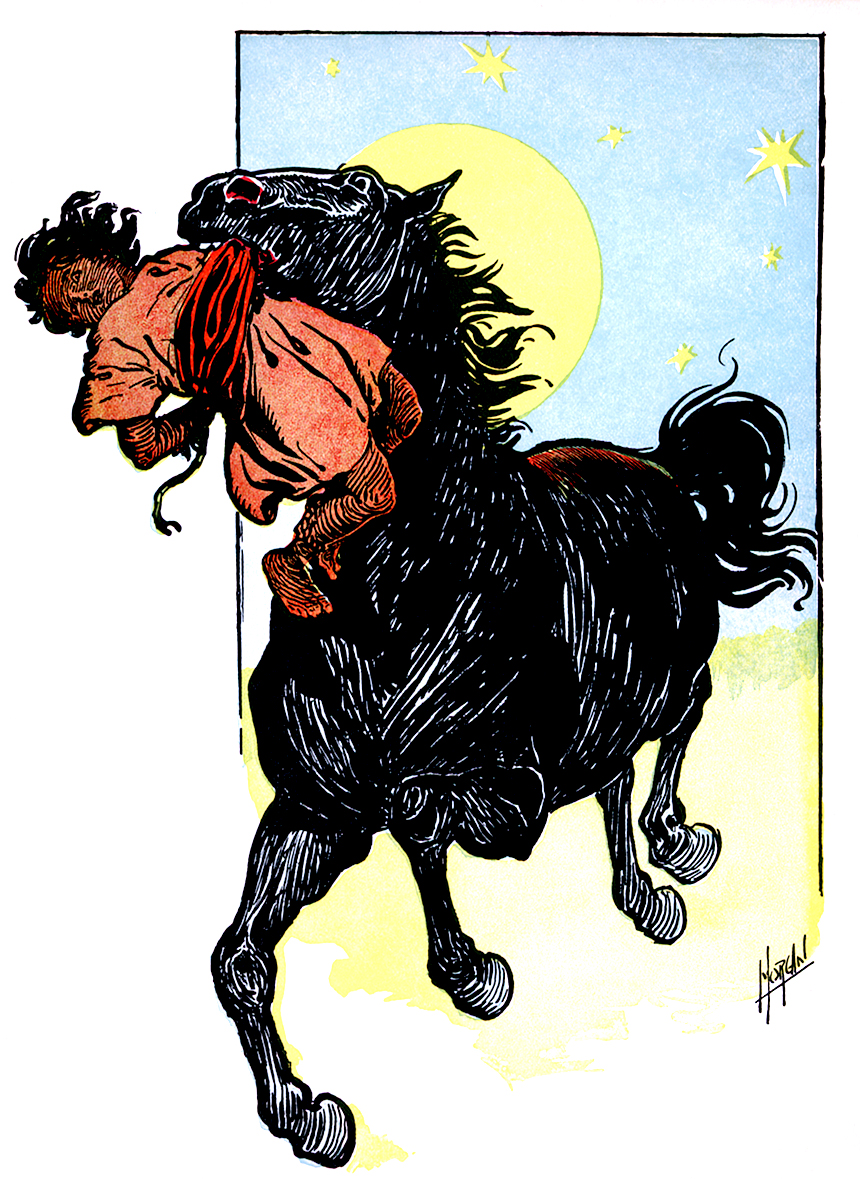 Illustration:  Hassan And His Horse.  Kids of Many Colors.  By Grace Duffie Boylan and Ike Morgan.  Hurst and Company Publishers: New York. CA 1909.