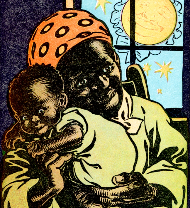 Illustration:  Cornfield Lullaby.  Kids of Many Colors. Written by Grace Duffie Boylan and Ike Morgan. Hurst and Company Publishers: New York. 1901.