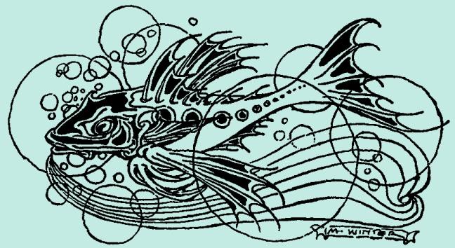 Illustration:  A Fish.  Billy Popgun.  Written and Illustrated by Milo Winter.  Houghton Mifflin Company: Boston & New York. 1912.