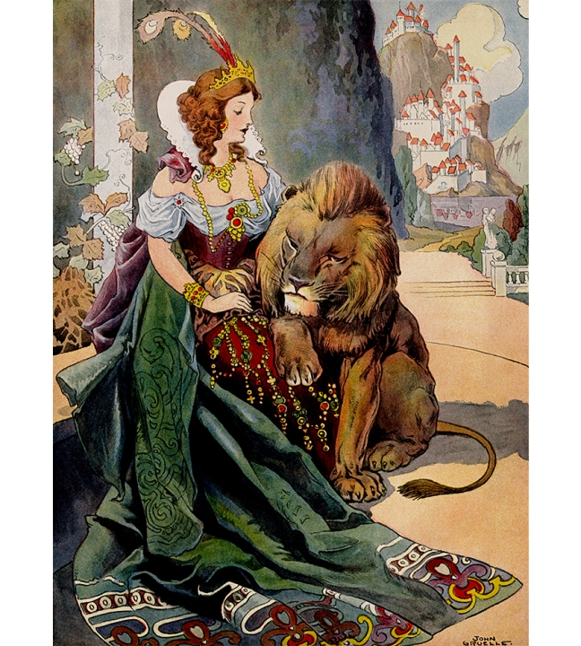 Illustration:  The Singing, Soaring Lark.  Grimm's Fairy Tales.  Translated from the German By Margaret Hunt.  Illustrated By John B. Gruelle.  Cupples and Leon Company: New York. Ca 1914.