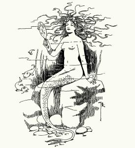 Illustration: Mermaid. Hans Andersen's Fairy Tales. By William Woodburn. Illustrated by Gordon Robinson. W. & R. Chambers, Limited: London & Edinburgh. 1917.