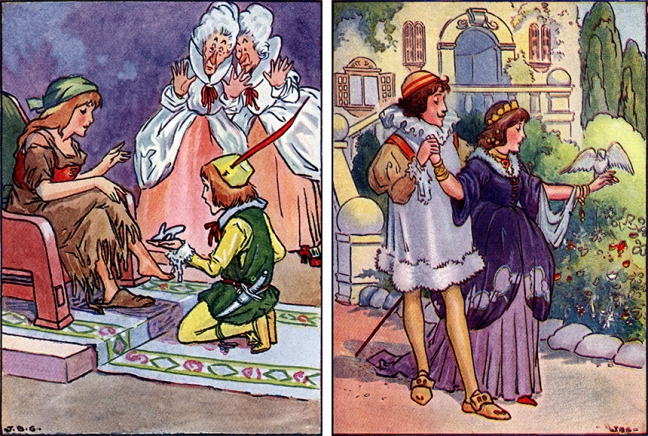 Illustration:  All About Cinderella.  Retold and Illustrations by John B. Gruelle.  Cupples & Leon Company: New York. 1916.