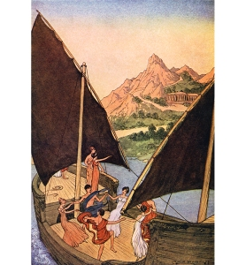 Illustration: They Never Once Thought. Tanglewood Tales. Nathaniel Hawthorne Illustrations By: Milo Winter Rand McNally & Company: Chicago & New York. 1913.