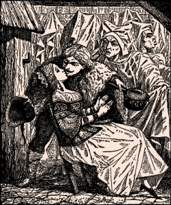 Illustration: The Swineherd. Fairy Tales by Hans Christian Andersen. Henry Altemus Company: Philadelphia. Ca 1920.