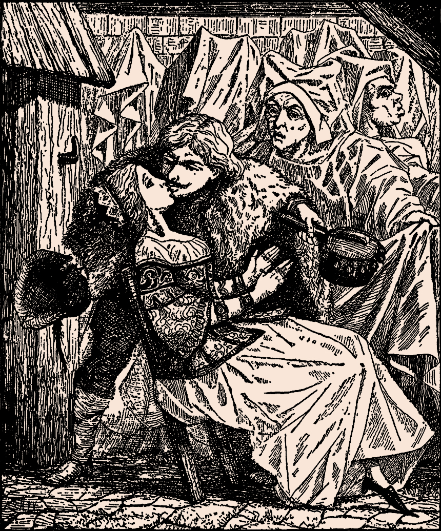 Illustration:  The Swineherd.  Fairy Tales by Hans Christian Andersen.  Henry Altemus Company: Philadelphia. Ca 1920.