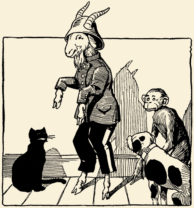 Illustration:  Billy Whiskers in the Movies.  By Frances Trego Montgomery.  Illustrated by Paul Hawthorne.  The Saalfield Publishing Company: Akron, Ohio and New York. 1921.