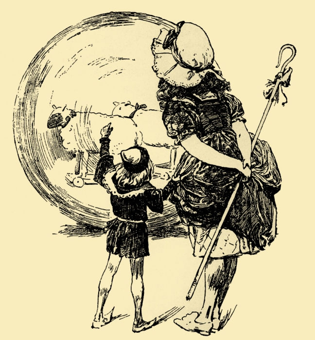 Illustration:  Little Bo-Peep And Other Good Stories.  Henry Altemus Company: Philadelphia. 1905.