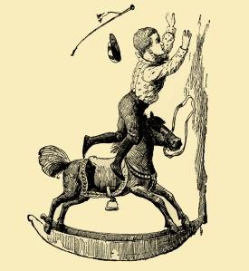 Illustration: NED'S HORSE. Little Bo-Peep And Other Good Stories. Henry Altemus Company: Philadelphia. 1905.