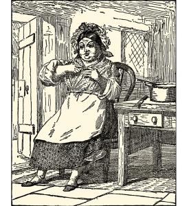 Illustration: THE DARNING NEEDLE. Andersen's Fairy Tales. Henry Altemus Company: Philadelphia. Ca 1920.