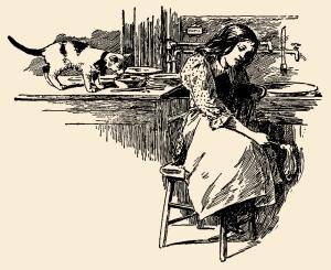 Illustration: A Sad Case. Little Bo-Peep And Other Good Stories. Henry Altemus Company: Philadelphia. 1905.