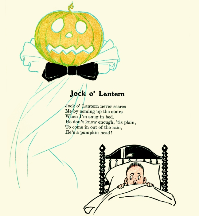 Illustration:  Jock O' Lantern.  Kids of Many Colors.  By Grace Duffie Boylan and Ike Morgan.  Hurst and Company Publishers: New York. CA 1909.