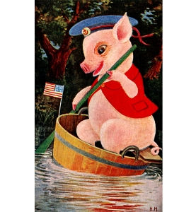 Illustration: The Tale of Jimmie Piggy. By Marjorie Manners The Platt & Nourse Co.: New York. 1918.