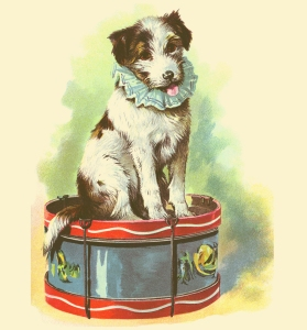 Illustration: Toby, Mr. Punch's Dog. Our Dear Dogs. Father Tuck's Happy Hour Series. Raphael Tuck & Sons, Ltd.: London-Paris-Berlin-New York-Montreal. Printed in the Fine Art Works in Saxony. Publishers to Their Majesties The King & Queen, & Her Majesty Queen Alexandra. Ca 1910.