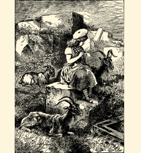 Illustration: ON THE ISLAND. Prattles For Our Boys and Girls. Hurst & Co.: New York. 1912.