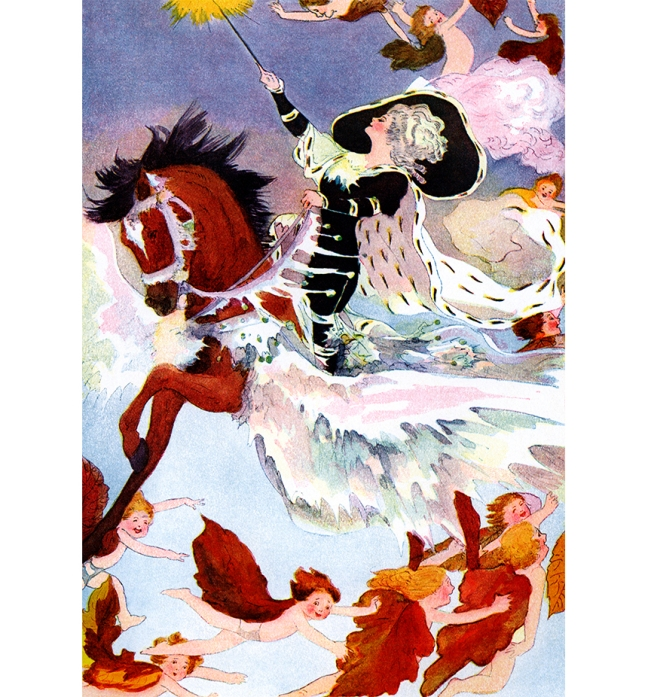 Illustration:  Lady Winter.  A Year With the Fairies.  Written by Anna M. Scott.  Illustrations by M. T. (Penny) Ross.  P. F. Volland & Co.: Chicago, U.S.A. 1914.