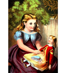 Illustration: NURSERY COLORED PICTURE BOOK. McLOUGHLIN BROS.: NEW YORK. Ca 1870.