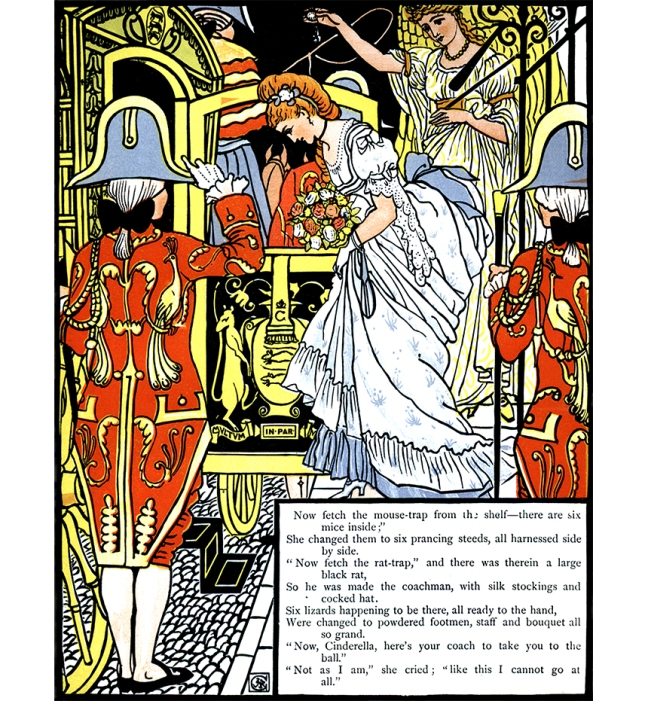 Illustration:  Cinderella.  The Three Bears' Picture Book.  Illustrated by Walter Crane.  George Routledge and Sons: London & New York.